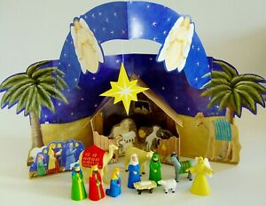 The Christmas Story Nativity Scene with Figures & Book