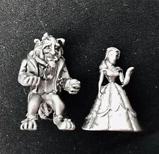 Miniature Solid Pewter Walt Disney Beauty and the Beast Belle Metal Figurine