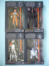 "STAR WARS 2013 WAVE 1 THE BLACK SERIES 6"" INCH COMPLETE SET OF 4 MIB **RARE**"