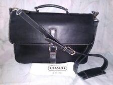 Coach Vintage Black Leather Messenger Laptop Business Bag 5208 + Dustbag