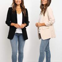 Women Slim Blazer Suit Coat Work Jacket Long Sleeve Suit Lady Formal Outfit