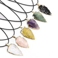 Natural Stone Pendant Irregular Agates Gem Geode Druzy Necklace Jewelry Making ❤