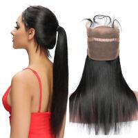 Peruvian Virgin Hair 360 Lace Frontal Closure Straight Hair Full Lace Closure