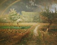 Spring At Barbizon Jean Francois Millet Fine Art Print on Canvas Painting Giclee