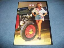 1932 Ford Hot Rod & Pin-up Girl Center Spread Flathead