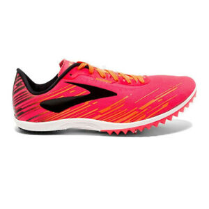 Brooks Womens Mach 18 Running Spikes Traction Pink Sports Breathable Lightweight