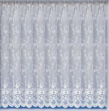 White Lace Effect Butterfly Net Curtains Assorted Drops Buy The Metre. 36""