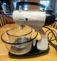 Vintage Sunbeam Mixmaster 12 speed Stand Mixer w/ 2 Bowls. No beaters, good cond