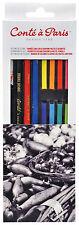 Conte a Paris Studio Pastel Set of Assorted Colour Crayons & Pastel Pencils
