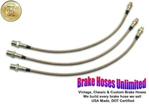 STAINLESS BRAKE HOSE SET Hudson Country Club Eight, Series 87, 95 - 1938 1939