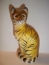 Fenton Glass Realistic Wild Tiger Stylized Cat GSE J.K. Spindler Ltd Ed 5/20!