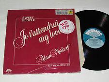 ALAIN MORISOD - SWEET PEOPLE Je t'attendrai My love LP 1983 Kosmos Quebec Vinyl