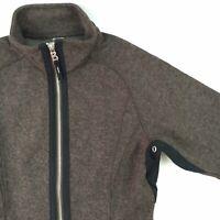Bogner Fire & Ice Womens Wool Jacket Size 6 Brown Full Zip