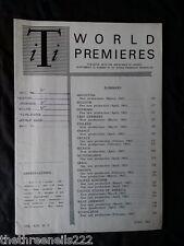 INTERNATIONAL THEATRE INSTITUTE WORLD PREMIER - JUNE 1963 VOL 14 #9
