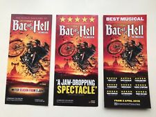 3x DIFFERENT Flyer/ Handbill BAT OUT OF HELL Musical Dominion Theatre Coliseum