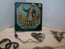 Antique 1920 Uncle Sam Puzzles #4 and other Mind Puzzles