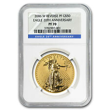 2006-W 1 oz Reverse Proof Gold American Eagle Coin - 20th Anniversary- PF-70 NGC