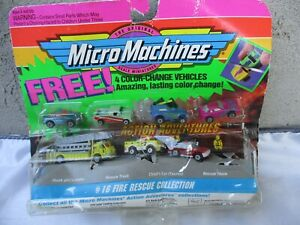 Galoob Micro Machines #16 Fire Rescue w/ 4 Color Change Vehicles