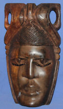 Vintage Hand Carved Wood Wall Decor Tribal Mask