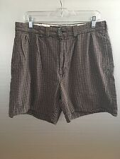 Ralph Lauren Polo Sport Sportsman Men's Red & Gray Plaid Shorts Size 34 EUC