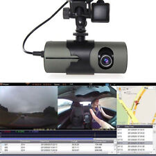 "R300 Dual Lens Dash Cam 2.7"" Full HD Car DVR Camera Video Recorder w/ GPS Logger"