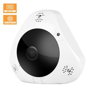 Wifi IP Surveillance Camera 1.3MP Wireless Fish Eye Camera US Pug