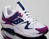 Saucony Grid 9000 Mens White Purple Casual Lifestyle Shoes Sneakers S70439-2