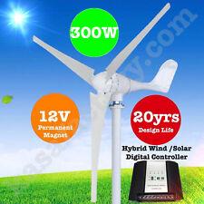 300W 12V Wind Turbine Generator 3 Blade - Digital Hybrid Wind/Solar Controller!!