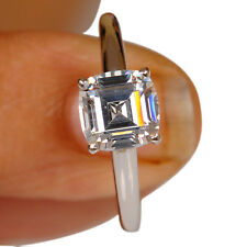 2.50 Carat 925 Sterling Silver Cushion Shape Solitaire Engagement & Wedding Ring