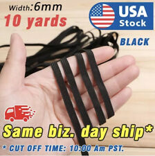 """10 yards 1/4"""" Elastic For Face Mask Black 1/4 inch elastic cord band for sewing"""