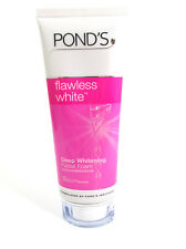 POND'S Flawless White Face Wash Facial Foam Deep Cleansing Whitening 100g.