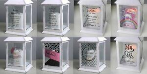 Personalised LED White Lantern Choose Design Any Occasion #1