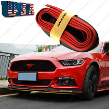 Universal 8FT Black Red Samurai Bumper Lip Splitter Chin Spoiler Body Kit Trim