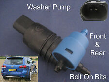Front & Rear Windscreen Washer Pump VW Touareg 2003 2004 2005 2006 2007 to 2010