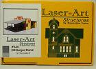 NIB HO Branchline Laser-Art #646 Hamburger Stand Kit