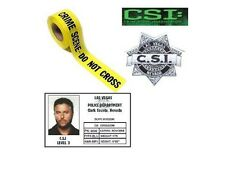 Les experts Lot carte ecusson 6 mètres bande police CSI Las Vegas fan pack