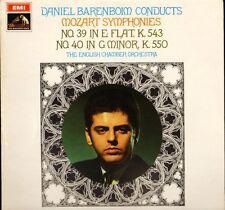 ASD 2424 B/W BAND BARENBOIM/ECO mozart symphonies no 39 and 40 LP PS EX/EX