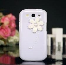 Samsung Galaxy S3 NEO Hard Case Cover Hülle Etui Perlen Steine hell violett
