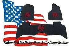 Dodge Ram Fußmatten Teppiche ab 2009 Crew Cap rot