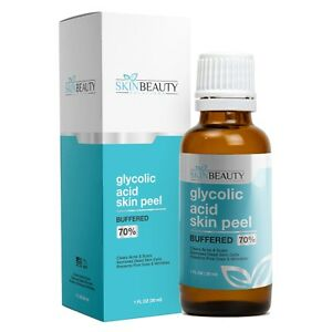 GLYCOLIC ACID BUFFERED Skin Face Chemical Peel - 35% 50% 70% Acne Wrinkles Pores