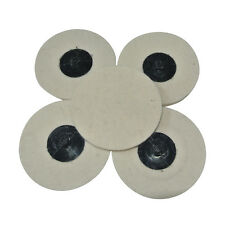 "5pcs Roloc Style 3"" Wool QC Disc Polishing Buffing Pads Wheels 6MM SOFT WOOL New"