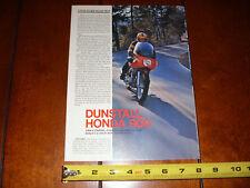 DUNSTALL HONDA 900 CAFE RACER CB750 - ORIGINAL 1974 ARTICLE