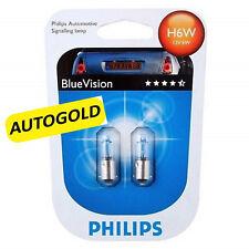 H6W PHILIPS BLUE VISION Coppia LAMPADE AUTO moto Bluevision PROMO 6W