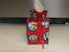 Wizard of OZ Pictures Medallions Dorothy cotton Fabric Handmade Tissue Box Cover