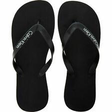 Men's Calvin Klein Black Flip Flops - Core Lifestyle Sandals - UK Size 9 - 10