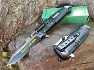 Spring Assisted Pocket Knife Fast Open Light Hunting, Fishing, Camping, EDC. 👀