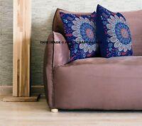 Large Pillow Indian Peacock Mandala Cotton Cushion Cover Pillow Case Sham Hippie