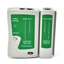 More details for ethernet network cable tester rj45 lan wire cat5e cat6 rj11 test tool led light