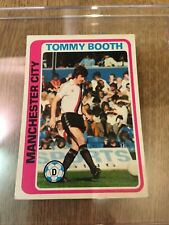 Manchester City TOPPS Football Card MCFC Tommy Booth 1979 Blue Back #66