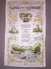 "Welsh Tea Towel Wales ""Land Of My Father"" 100% Cotton Wales Cymru"